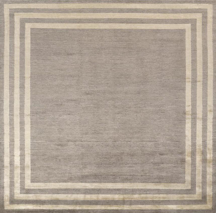 Moderner Teppich / Motiv / Wolle / Viskose - CADRE - Giorgio Armani Casa