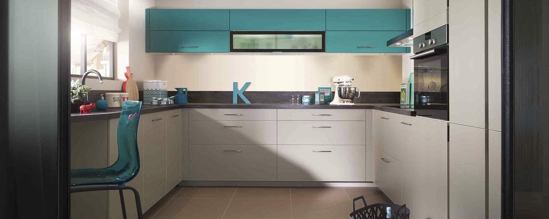 moderne küche / aus ebenholz / laminat / u-rohr - ambiance azur