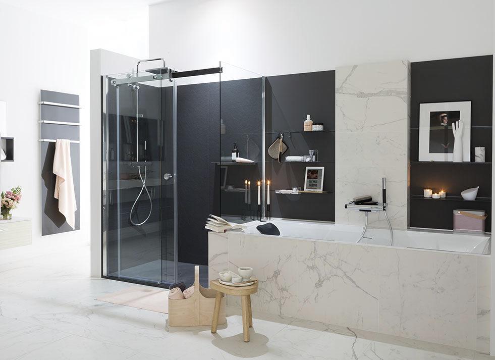Modernes Badezimmer / Lackiertes Holz / Aus Marmor   AMBIANCE DESIGN