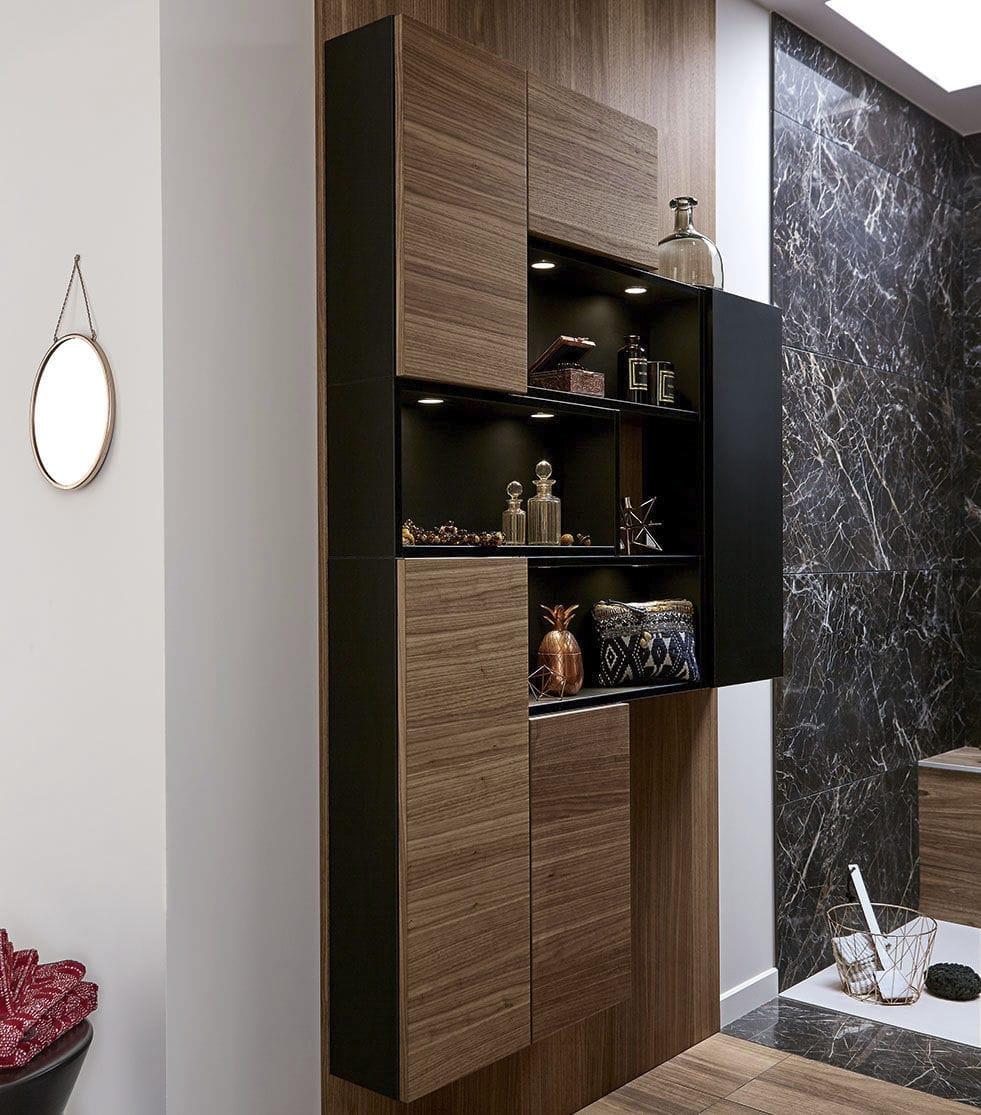 Modernes Badezimmer / Nussbaum   AMBIANCE ECRIN