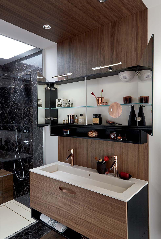 Fesselnd ... Modernes Badezimmer / Nussbaum AMBIANCE ECRIN Mobalpa ...