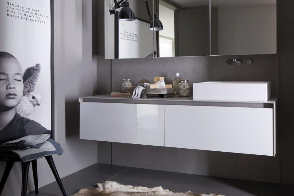 Hängend-Waschtischunterschrank / Holz / modern / lackiert - VANITY ... | {Waschtischunterschrank modern 55}