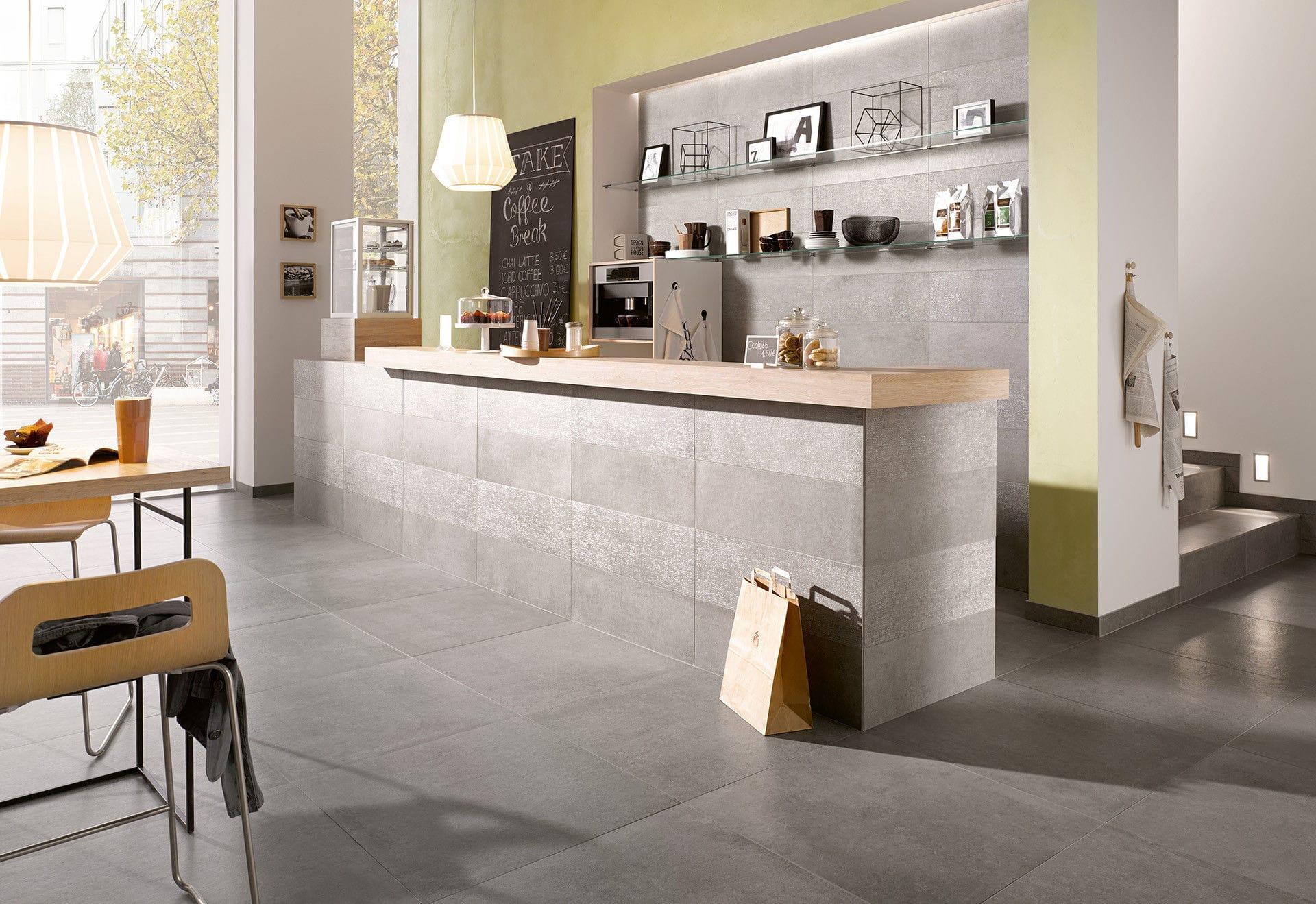 Innen-Fliesen / Wohnzimmer / für Böden / für Wände - BETON ...