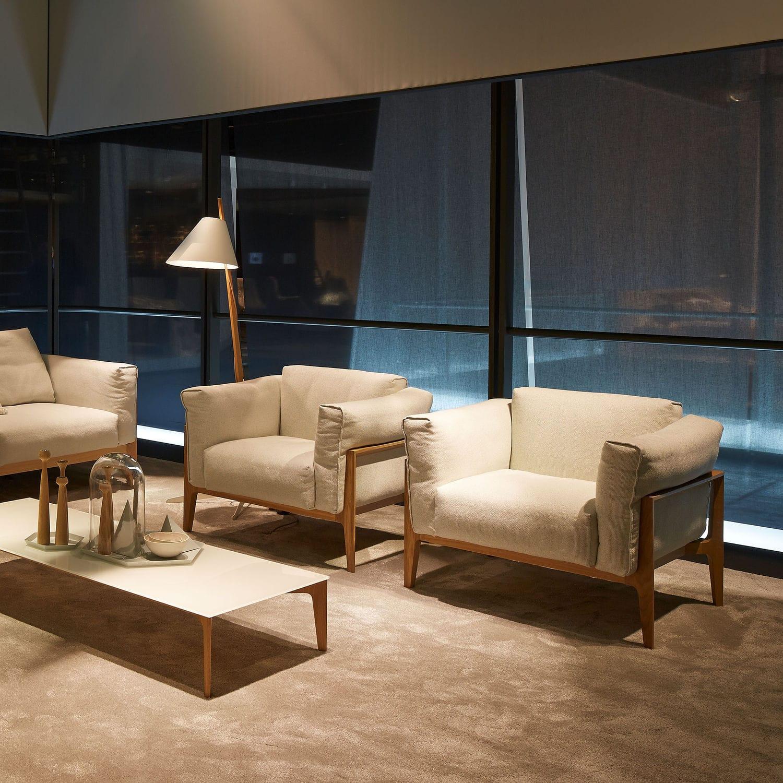 Moderner Sessel Textilfaser Holz Leder Elm By Jehs Laub Cor