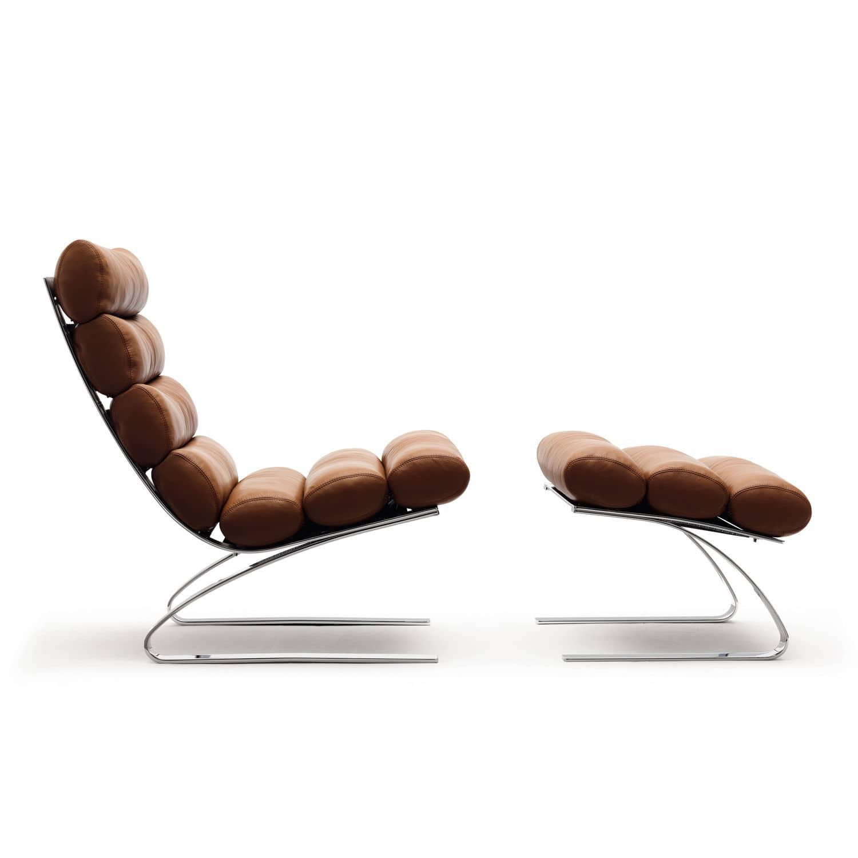 Einzelsessel stoff  Moderner Sessel / Textilfaser / Leder / mit Armlehnen - SINUS by ...