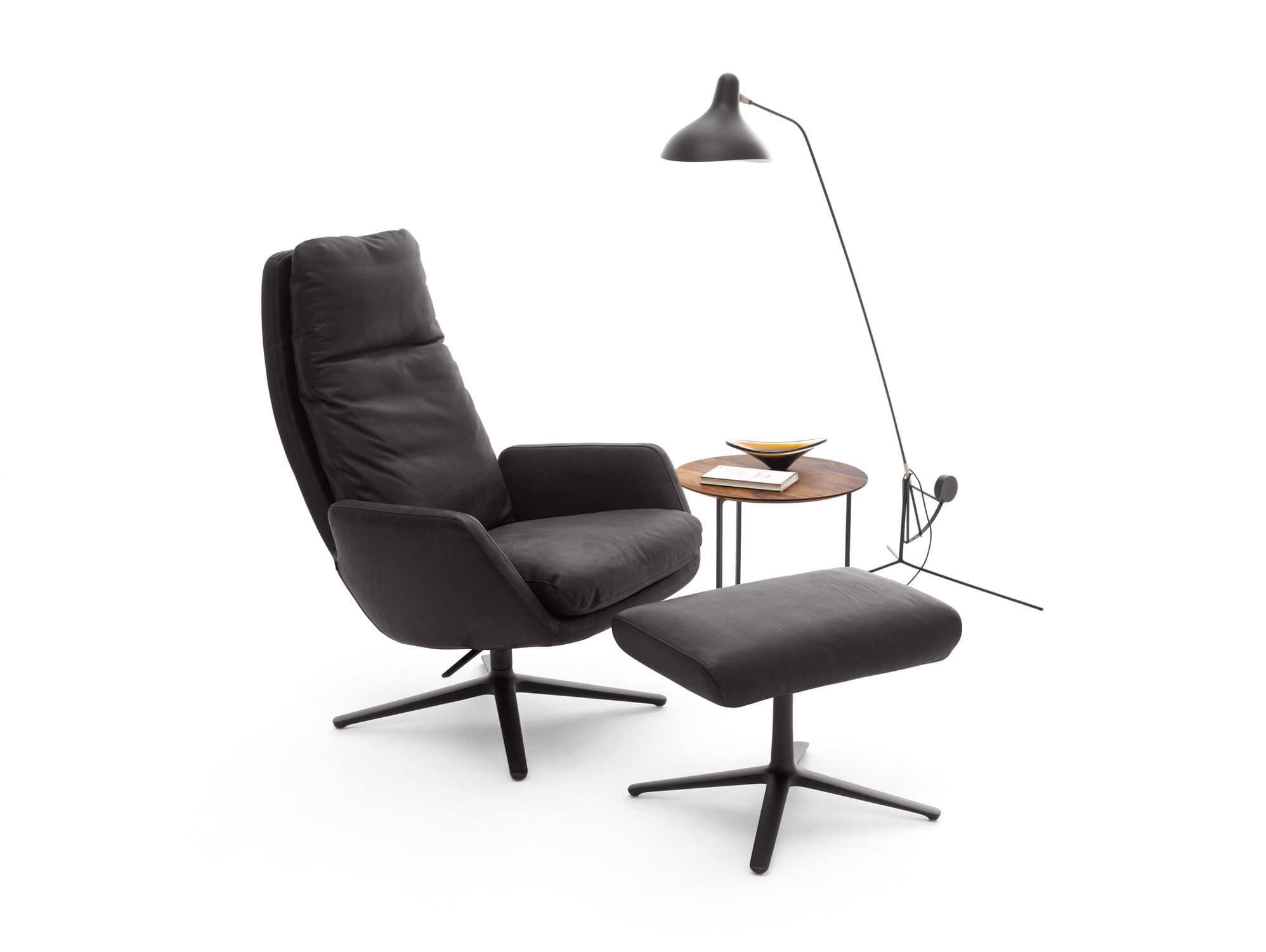 Moderner Sessel Stoff Leder Mit Fussstutze Cordia By Jehs
