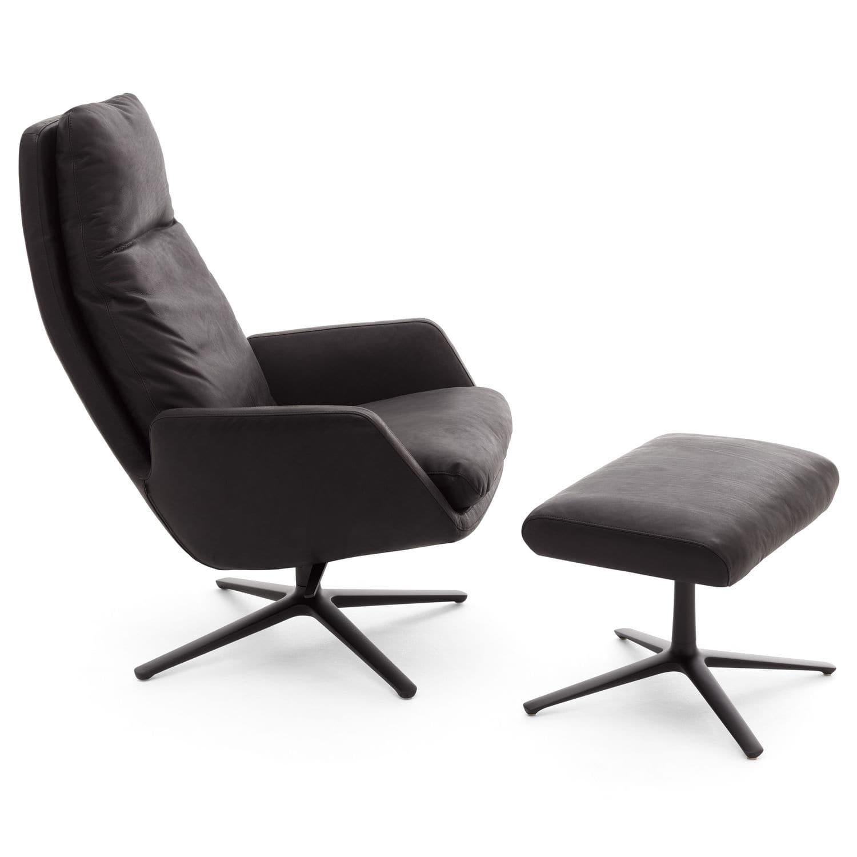 Moderner Sessel Stoff Leder Mit Fußstütze Cordia By Jehs