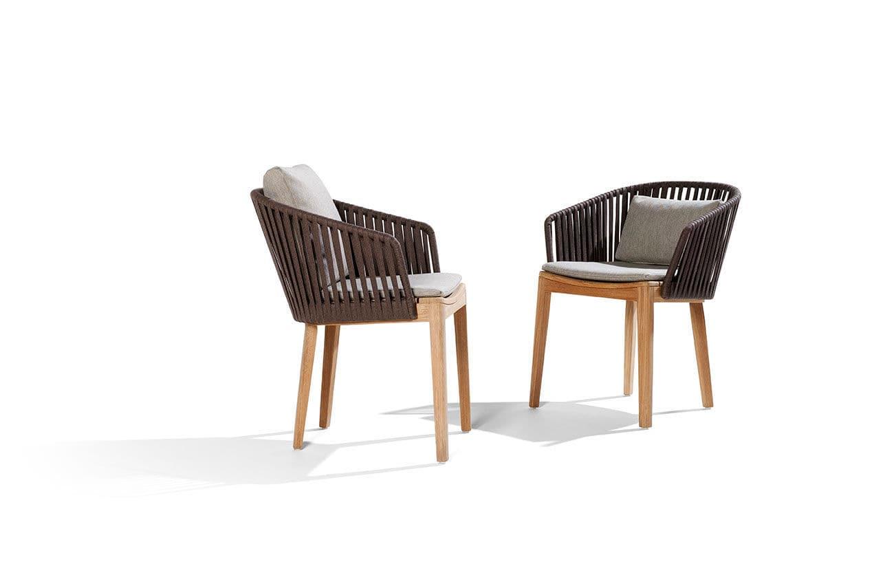 Moderner Stuhl / mit Armlehnen / mit abnehmbarem Kissen / aus ...