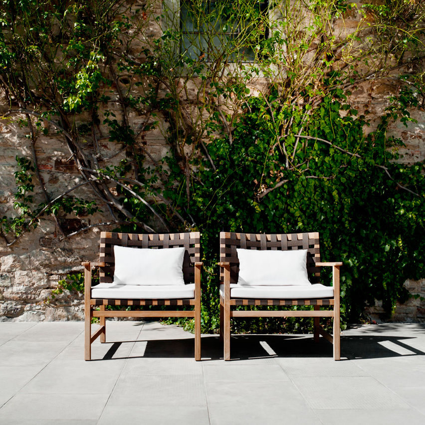 Moderner Sessel / aus Teakholz / Polyester / PVC - VIS A VIS by ...