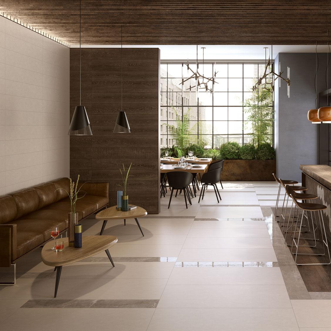 Innenraum Fliesen / Wand / Für Fußböden / Feinsteinzeug   ELEMENTS DESIGN :  BEIGE