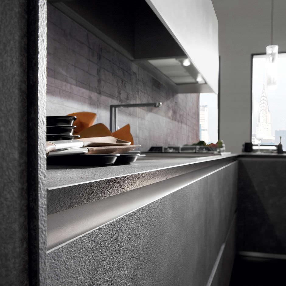 Moderne Küche / Laminat / L-förmig - CRETA CORNER by Centro ...