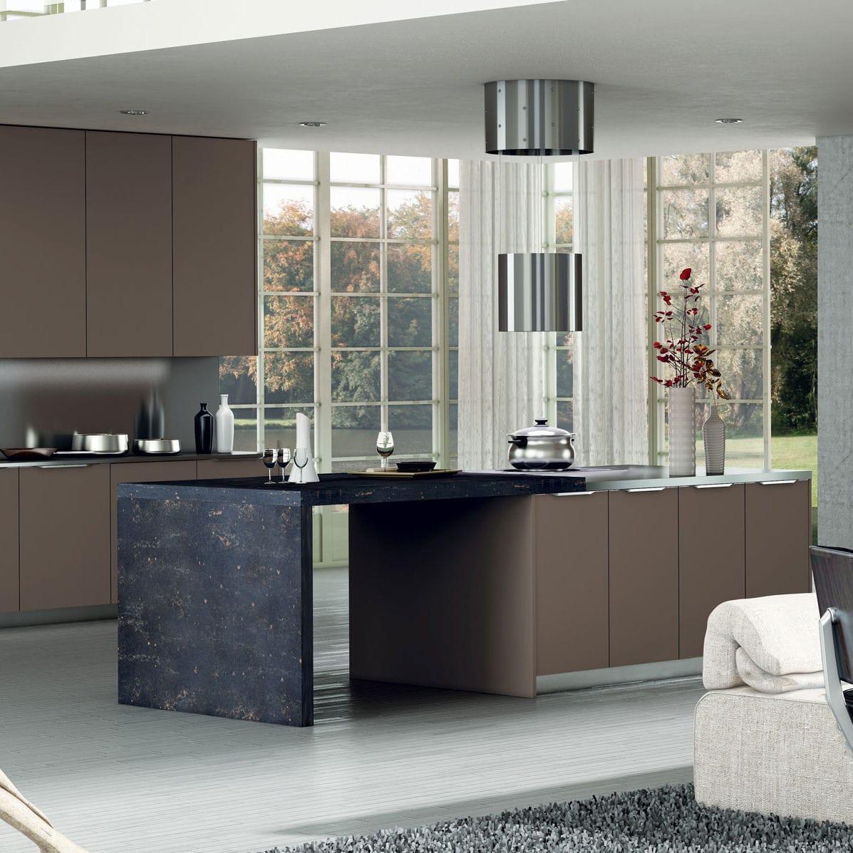 Moderne küche / holz / kochinsel / lackiert   valencia by centro ...