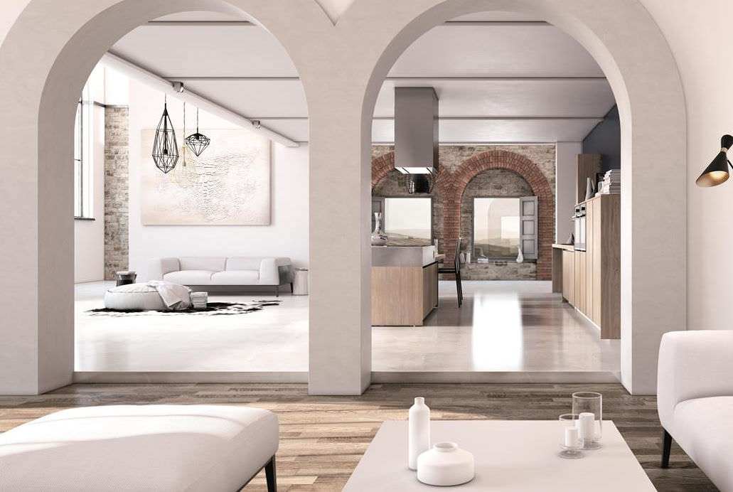 Moderne Küche / Holz / Kochinsel / ohne Griff - CRETA by Centro ...