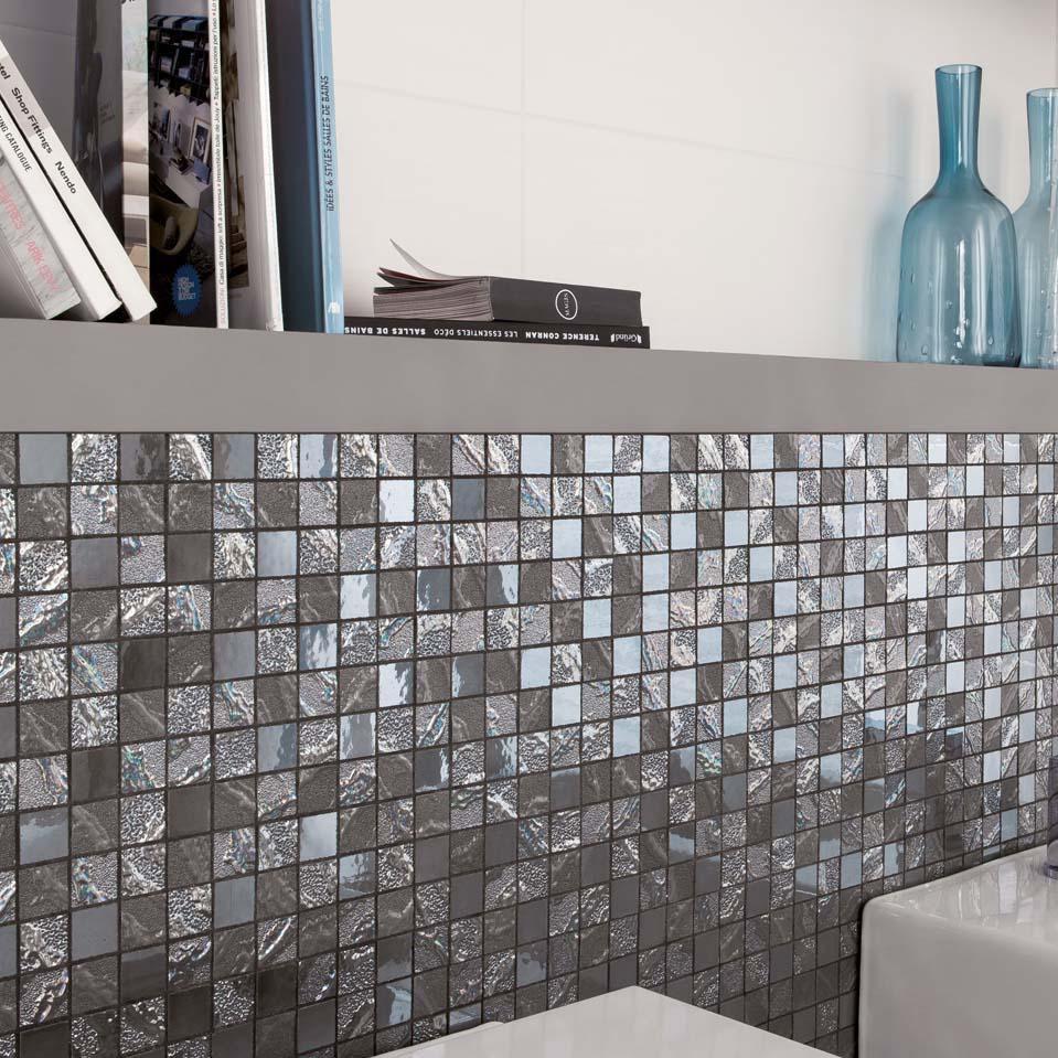 mosaikfliese für innenbereich / für badezimmer / wandmontiert