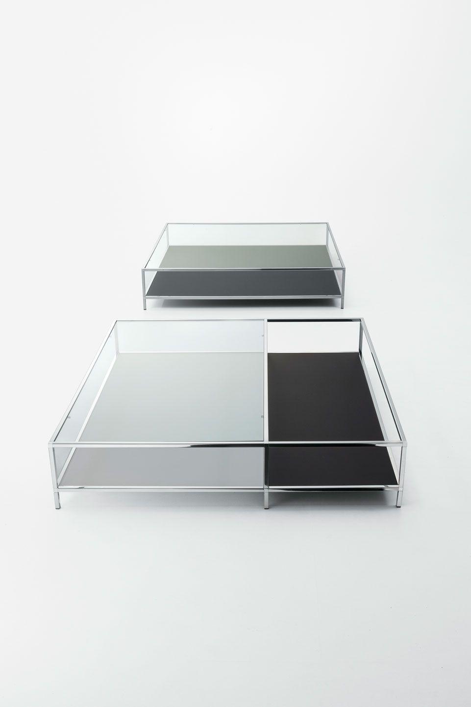 Moderner Couchtisch Glas Edelstahl Rechteckig Faraday By