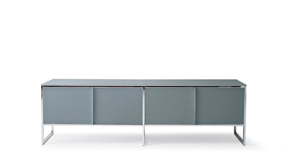 Sideboard holz glas  Modernes Sideboard / Holz / Glas / Edelstahl - ERMINIA by ...