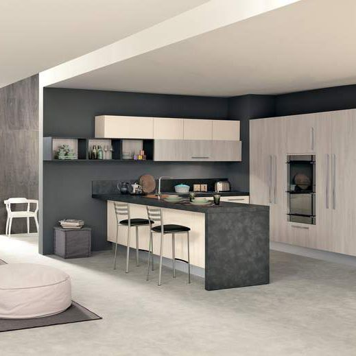 Moderne Küche / Holz / U-Rohr / lackiert - ICE - Febal Cucine