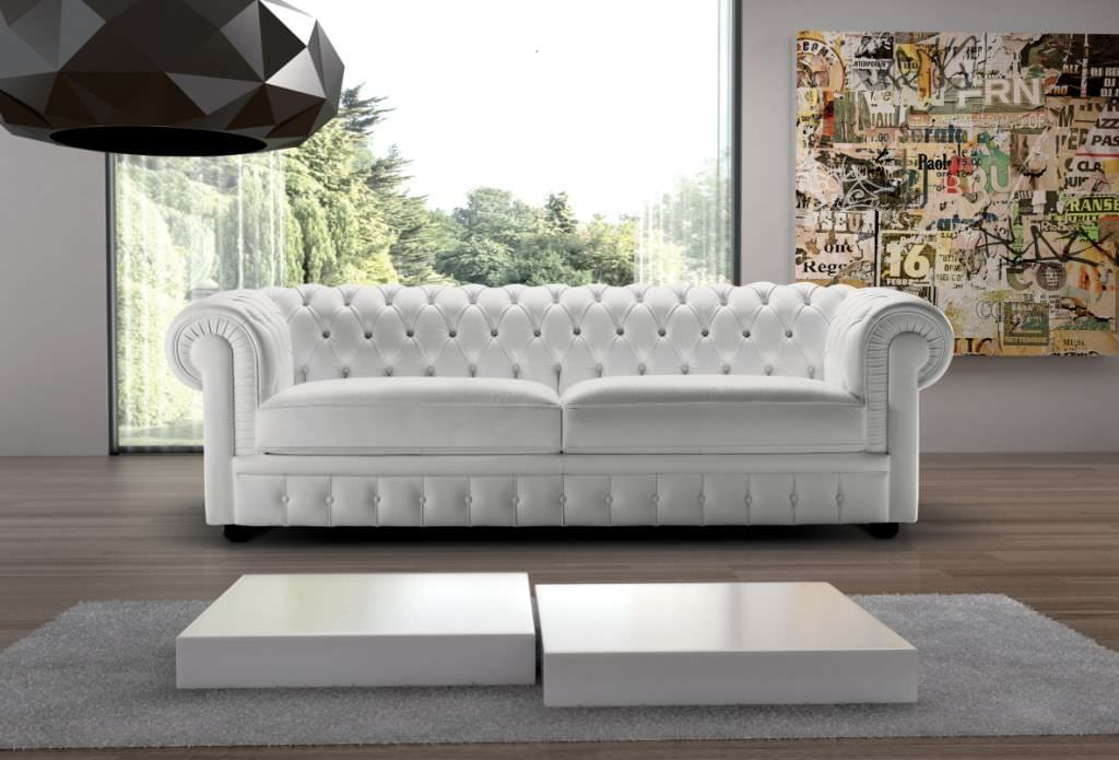 Chesterfield sofa leder  Chesterfield-Sofa / Leder / 2 Plätze / grau - SIR WILLIAM ...