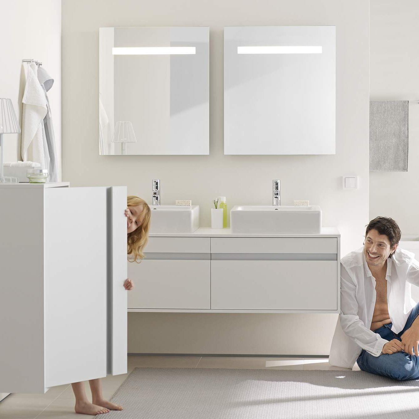 Unterschrank für badezimmer wandmontage kt6697 blr by christian werner duravit