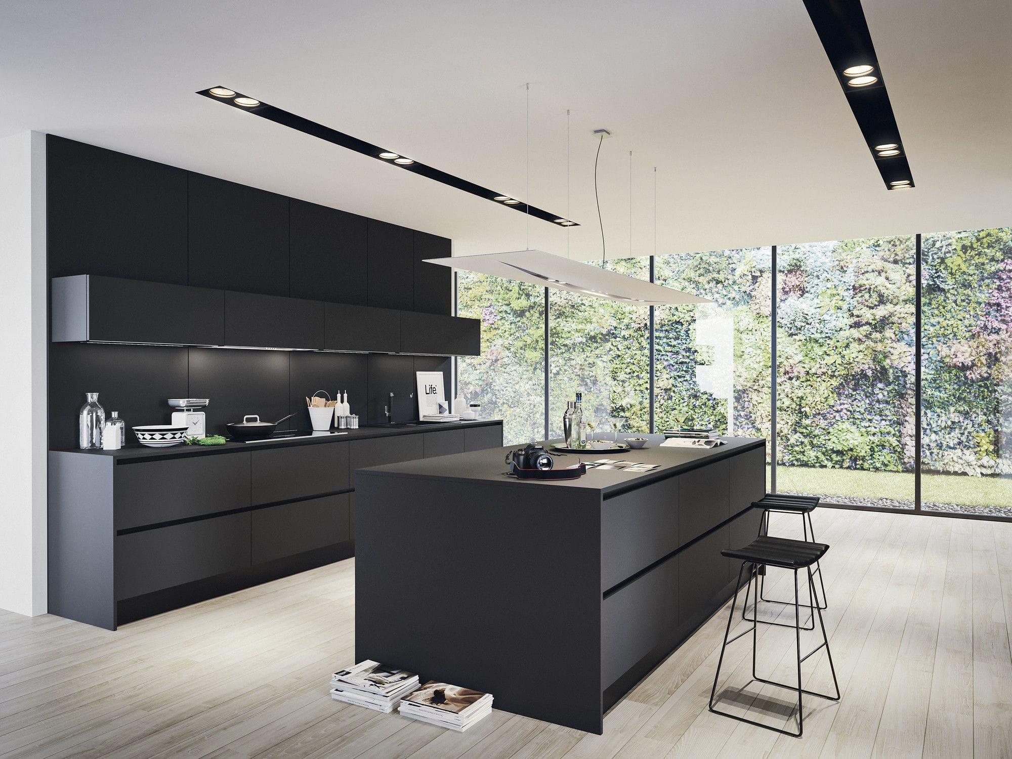 Moderne Küche / Laminat / Kochinsel / matt - LAMINA 1.0 - Record Cucine