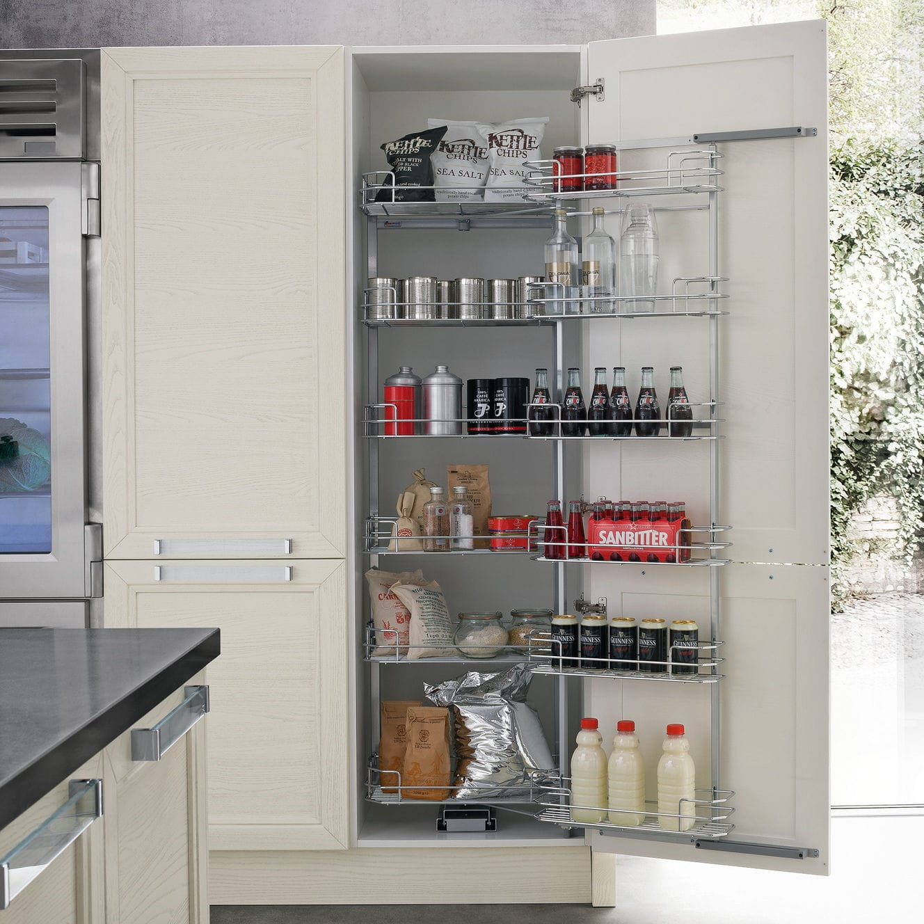 Moderner Lagerschrank für Küchen / lackiertes Holz - GINEVRA 2.0 ...