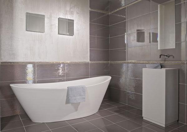 Fliesen Fr Badezimmer Fr Wandbespannungen Aus Keramik Streifenmuster Lustro    Badezimmer Fliesen Taupe