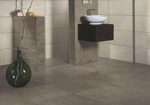 Fliesen Für Badezimmer / Boden / Feinsteinzeug / Emailliert - Loft ... Badezimmer Fliesen Steinoptik