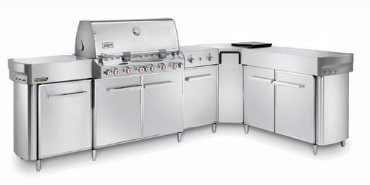 Outdoorküche Weber Usa : Stahlküche außenbereich mit griffen summit weber usa