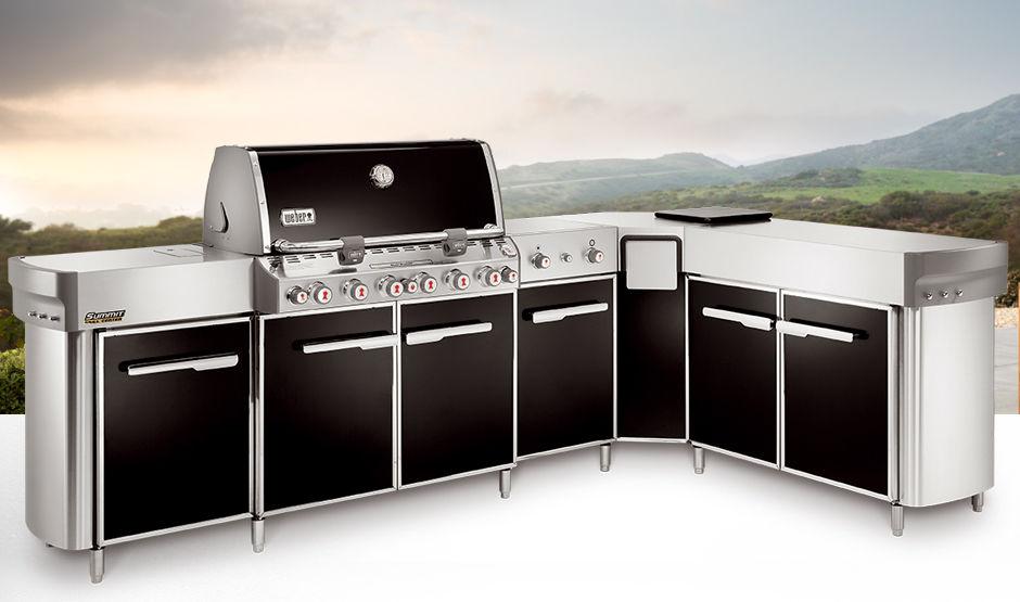 Outdoorküche Mit Weber Grill : Stahlküche außenbereich mit griffen summit weber usa