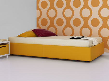 Einfaches Bett Modern Bettkasten Fur Kinder Abatible By