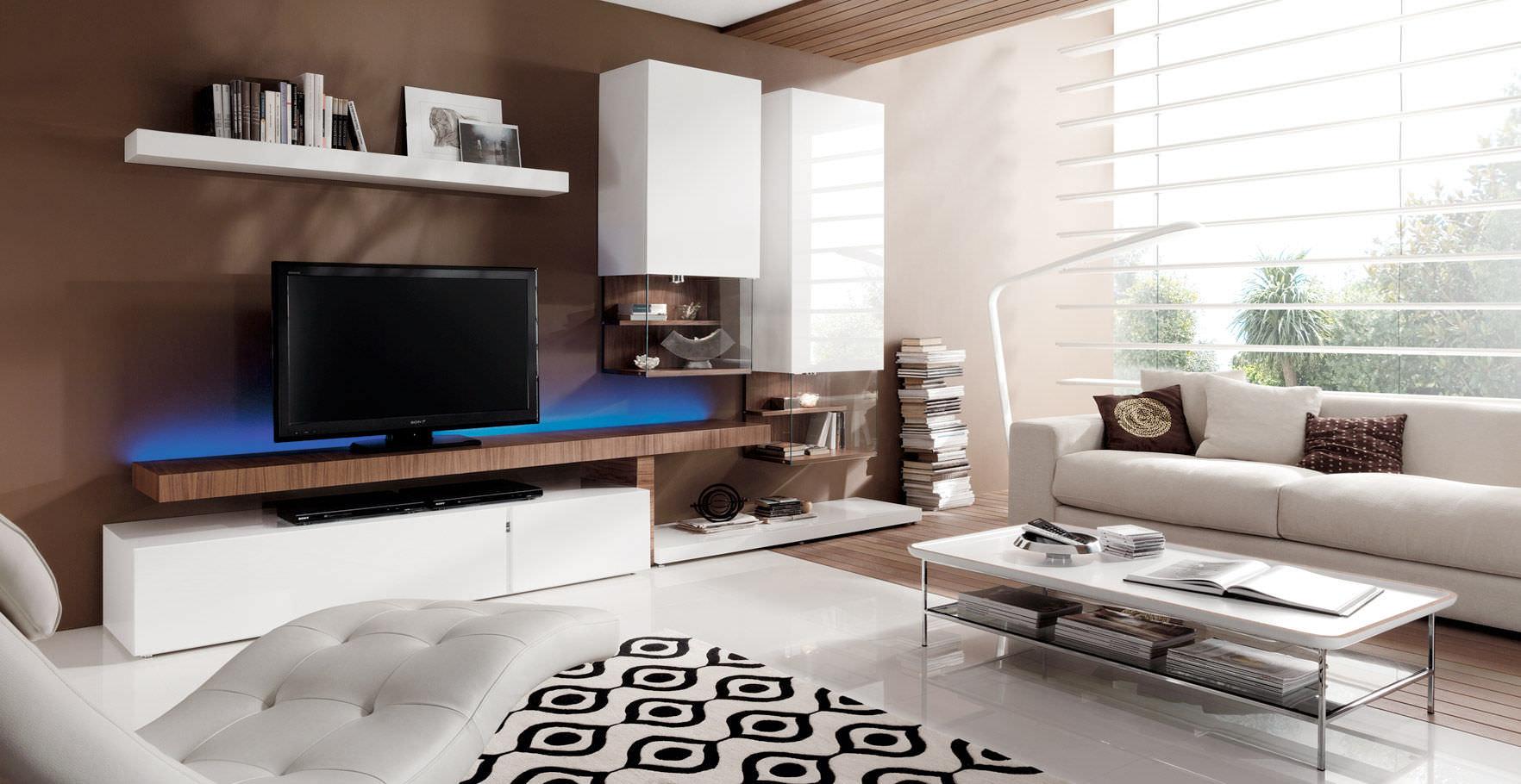 Moderne wohnwand / lackiertes holz   ku   piferrer