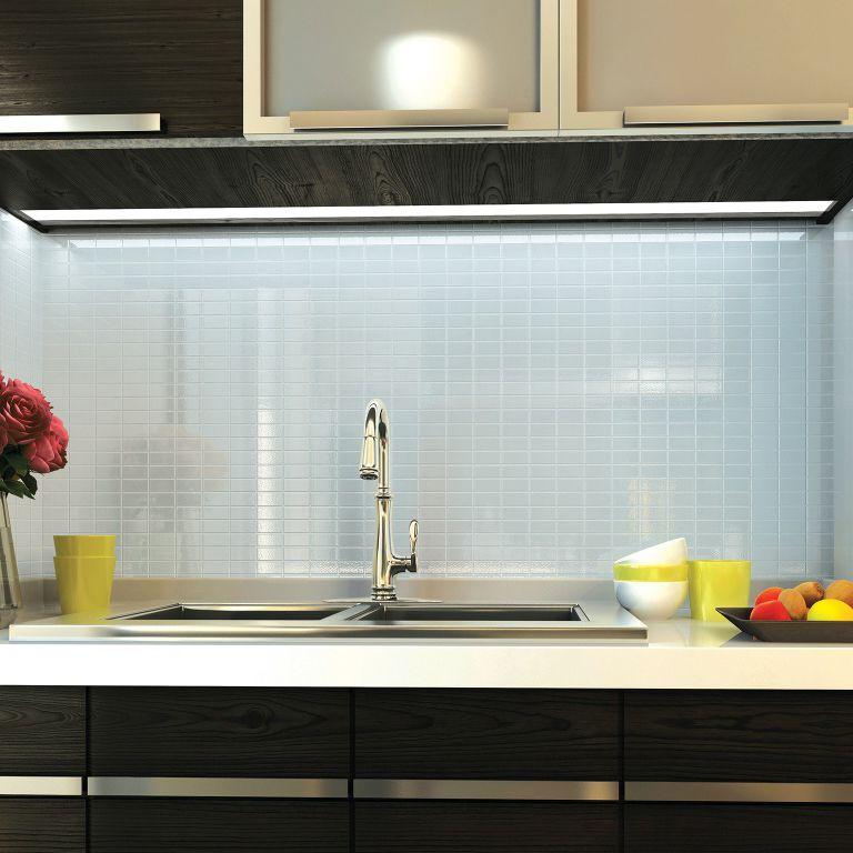 Innenraum Fliesen Kuchen Wand Glas Interglass Glassique