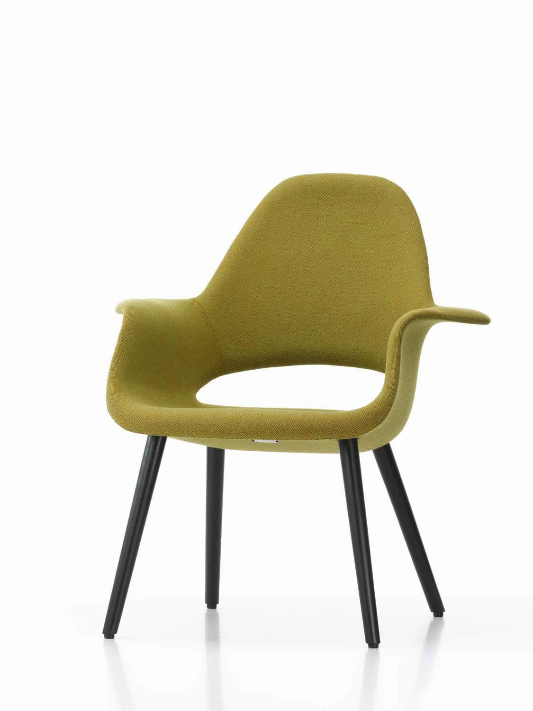 Polster-Konferenzstuhl / mit Armlehnen / Stoff / Charles Eames ...