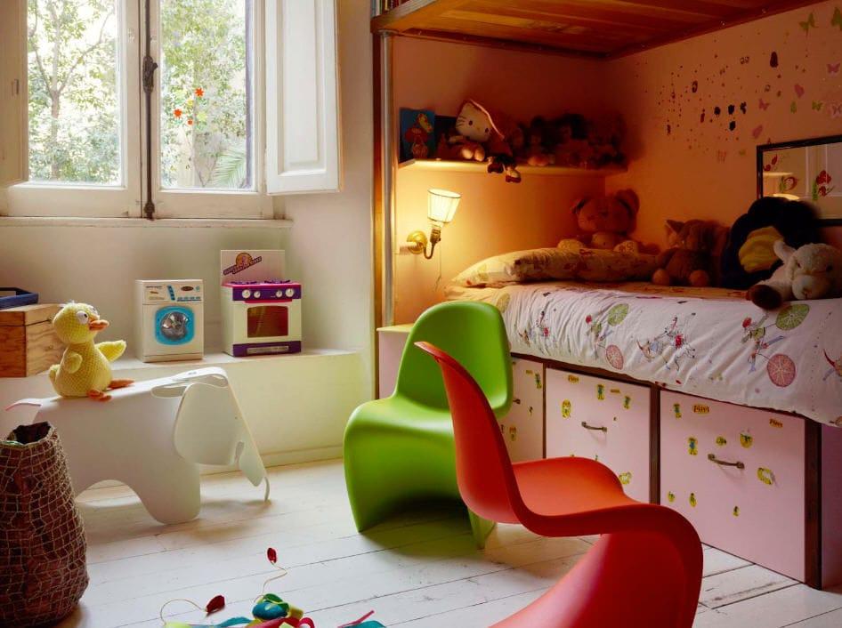 moderner stuhl fr kinder aus polypropylen fr schulen panton junior vitra usa - Kinderzimmer Dekoration In Schulen