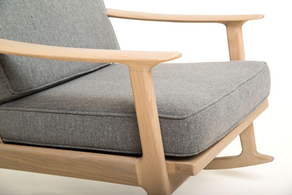 ... Sessel / Skandinavisches Design / Stoff / Aus Eiche / Massivholz