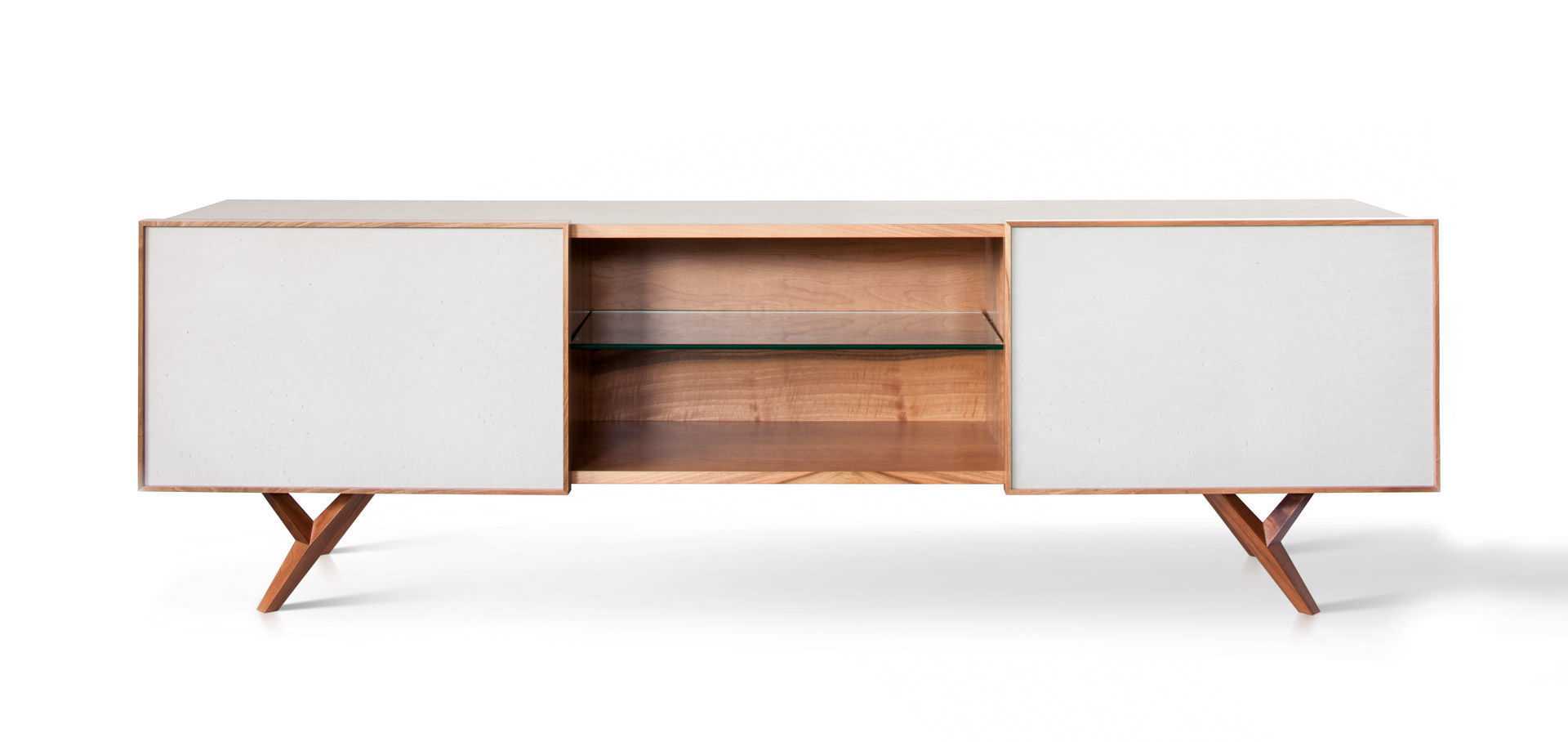 Modernes Sideboard Beton Weiss Gio 240 Sai Industry