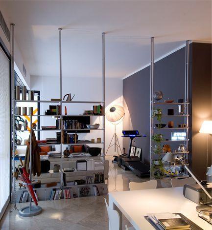 modul regal / modern / aluminium / wohnzimmer - k2 - kriptonite - Wohnzimmer Regal Modern
