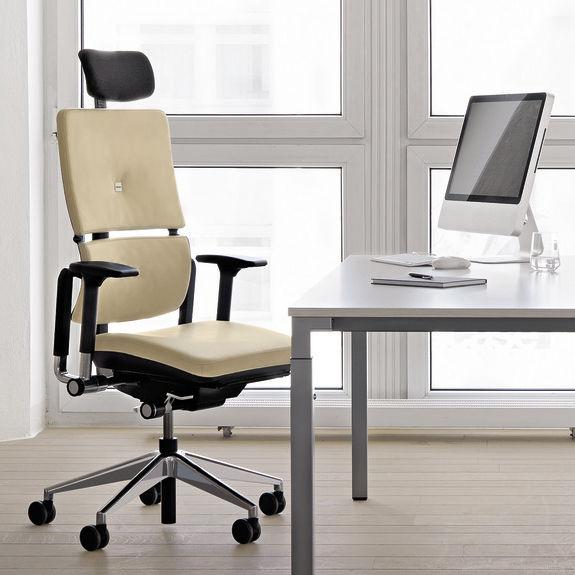 Chefsessel stoff  Moderne Chefsessel / Stoff / Leder / Stahl - PLEASE - Steelcase
