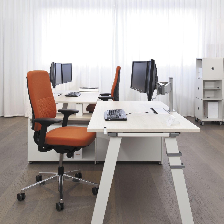 Schreibtisch für Open Space / Holz / Stahl / Laminat - FRAMEONE ...