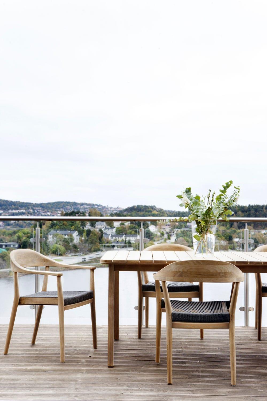 moderner tisch / aus teakholz / rechteckig / für innenbereich, Esszimmer dekoo