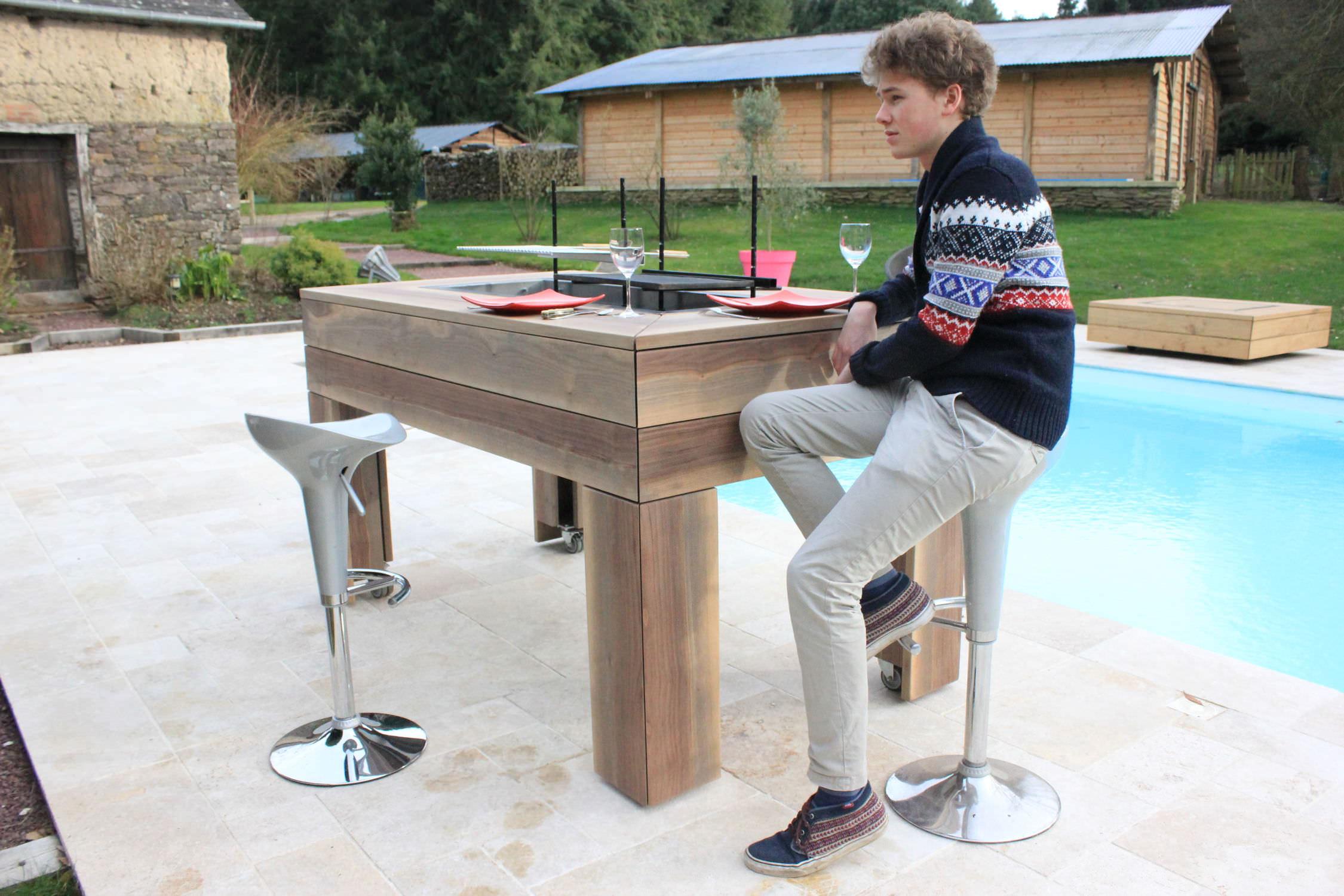 moderner tisch / holz / rechteckig / garten - kub® - kronos/kub, Hause und Garten