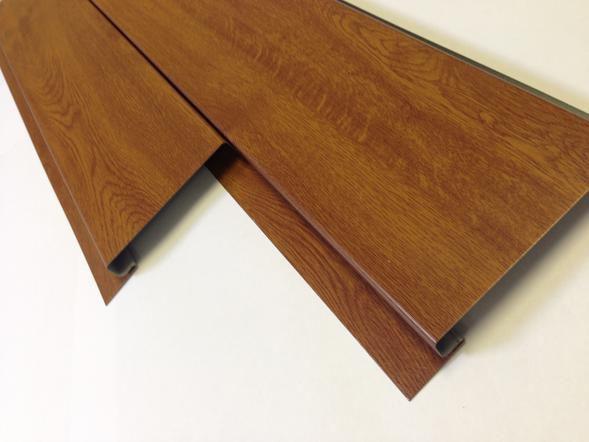 Großartig PVC-Fassadenverkleidung / geriffelt / Platten / Holzoptik  BW48
