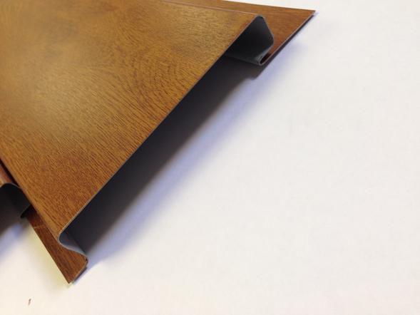 Trendig PVC-Fassadenverkleidung / geriffelt / Platten / Holzoptik  MI61
