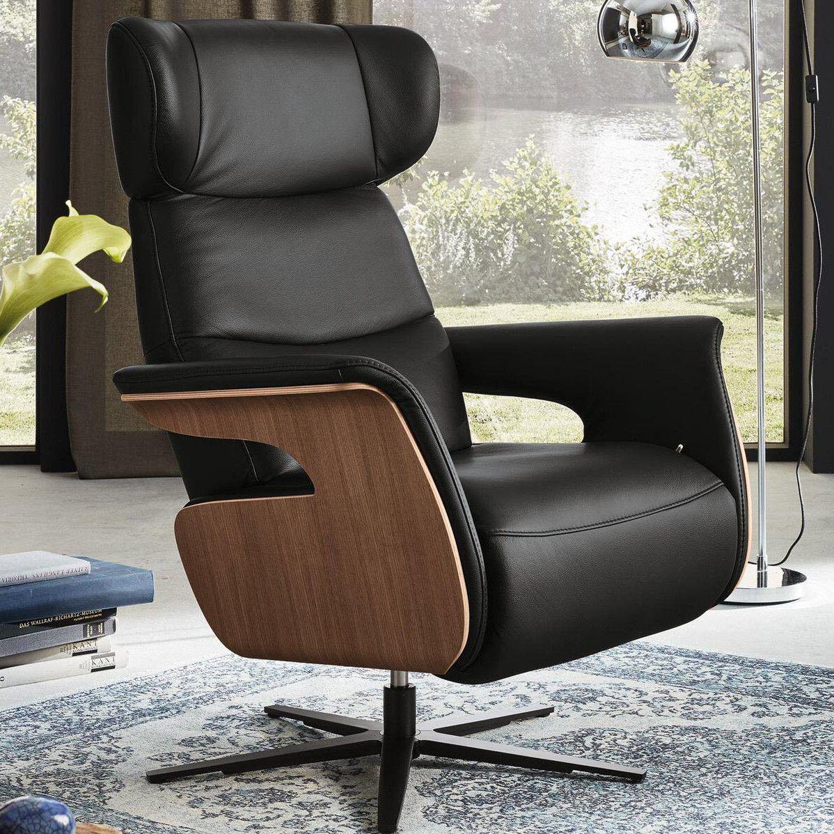 Moderner Sessel Holz Sternförmiger Fuß Mit Armlehnen Mr 255