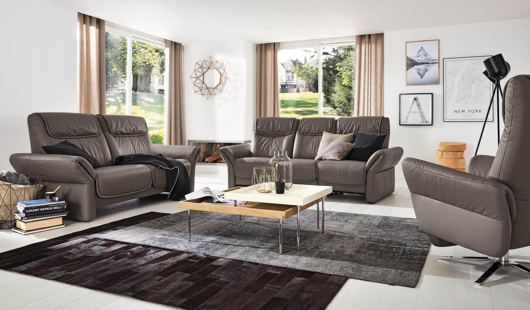 Modernes Sofa Leder Hochlehner Mr 380 Musterring