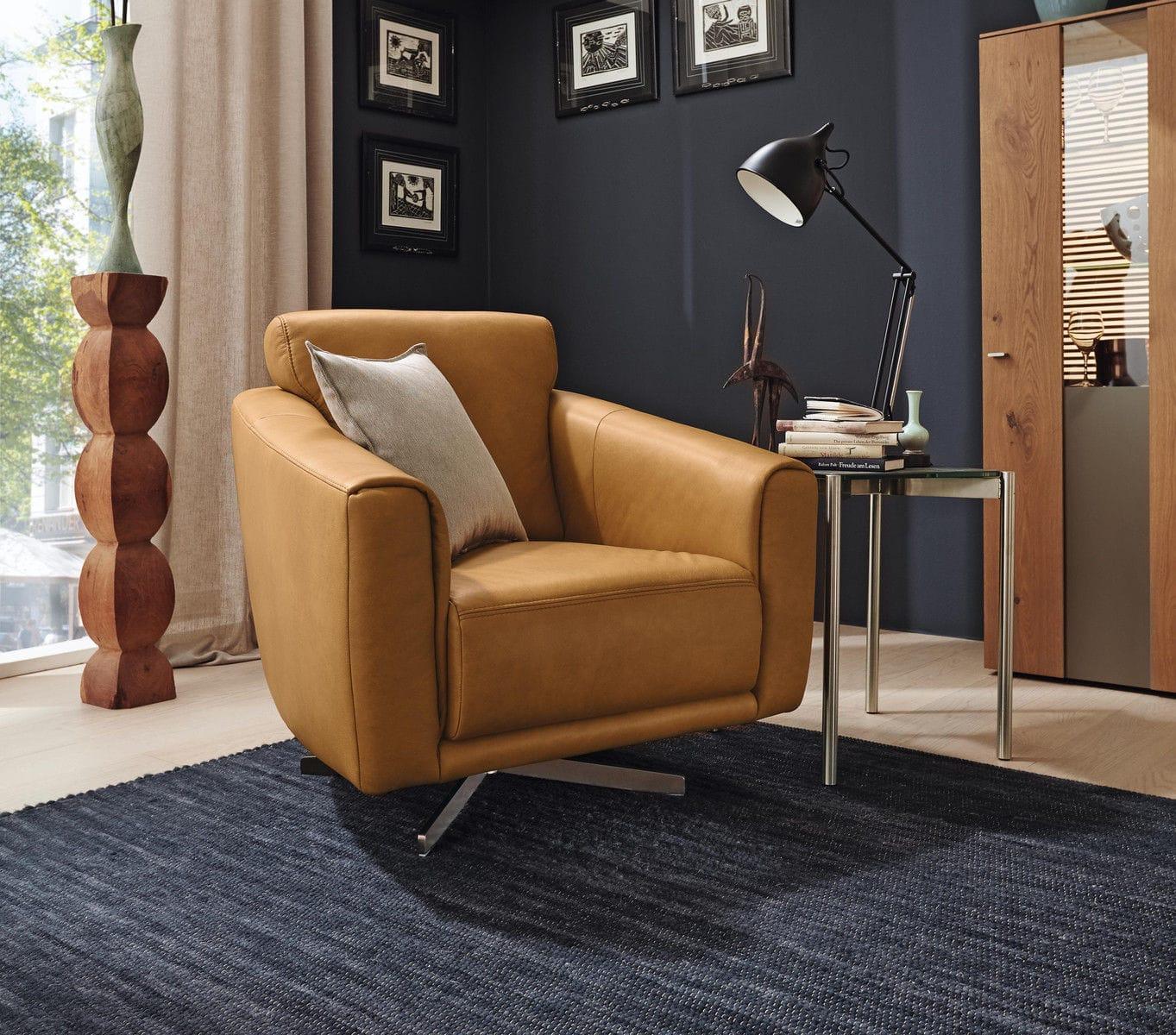 Moderner Sessel Stoff Leder Mr 2490 Musterring