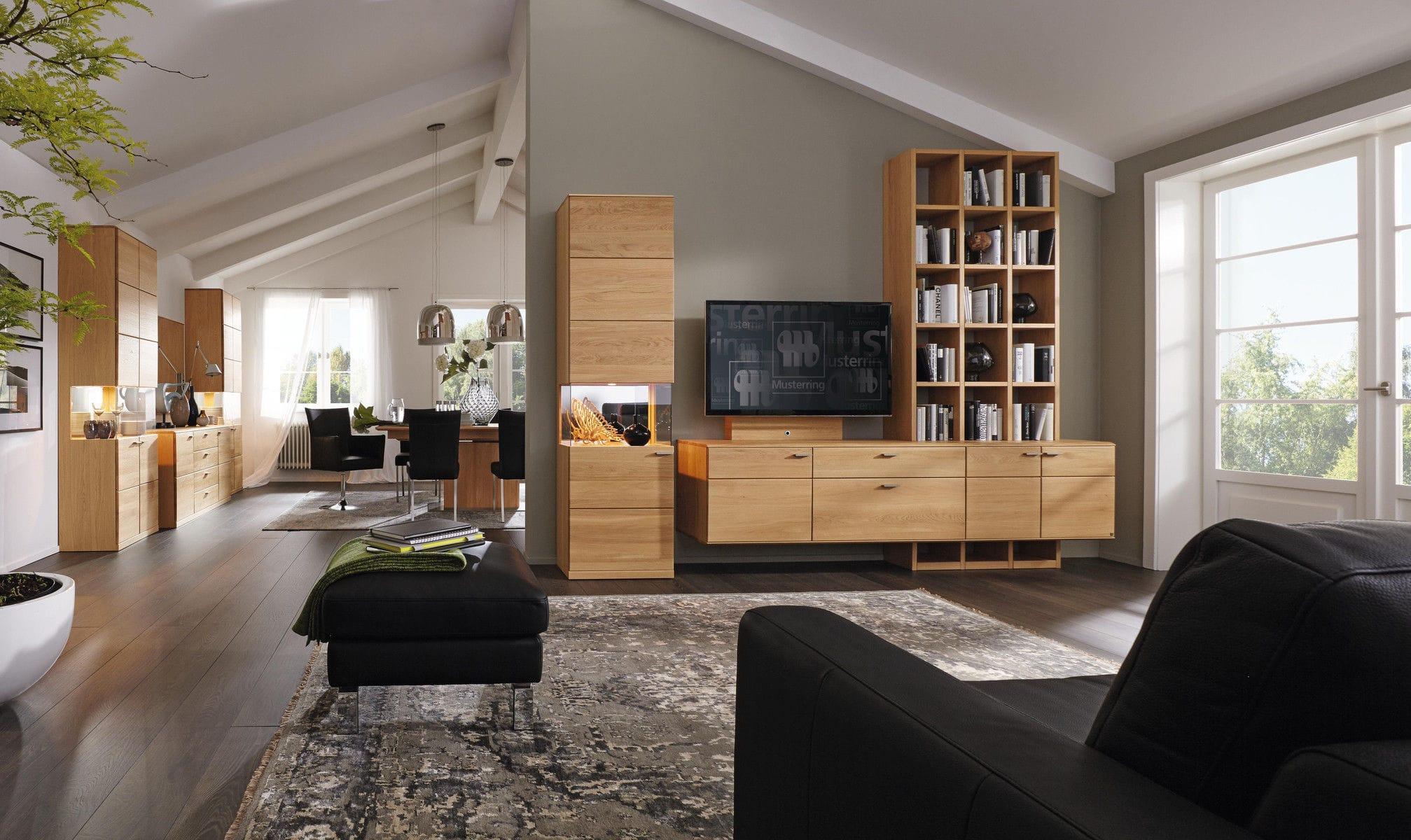 Moderne Wohnwand Aus Eiche Aus Buche Kanto Musterring