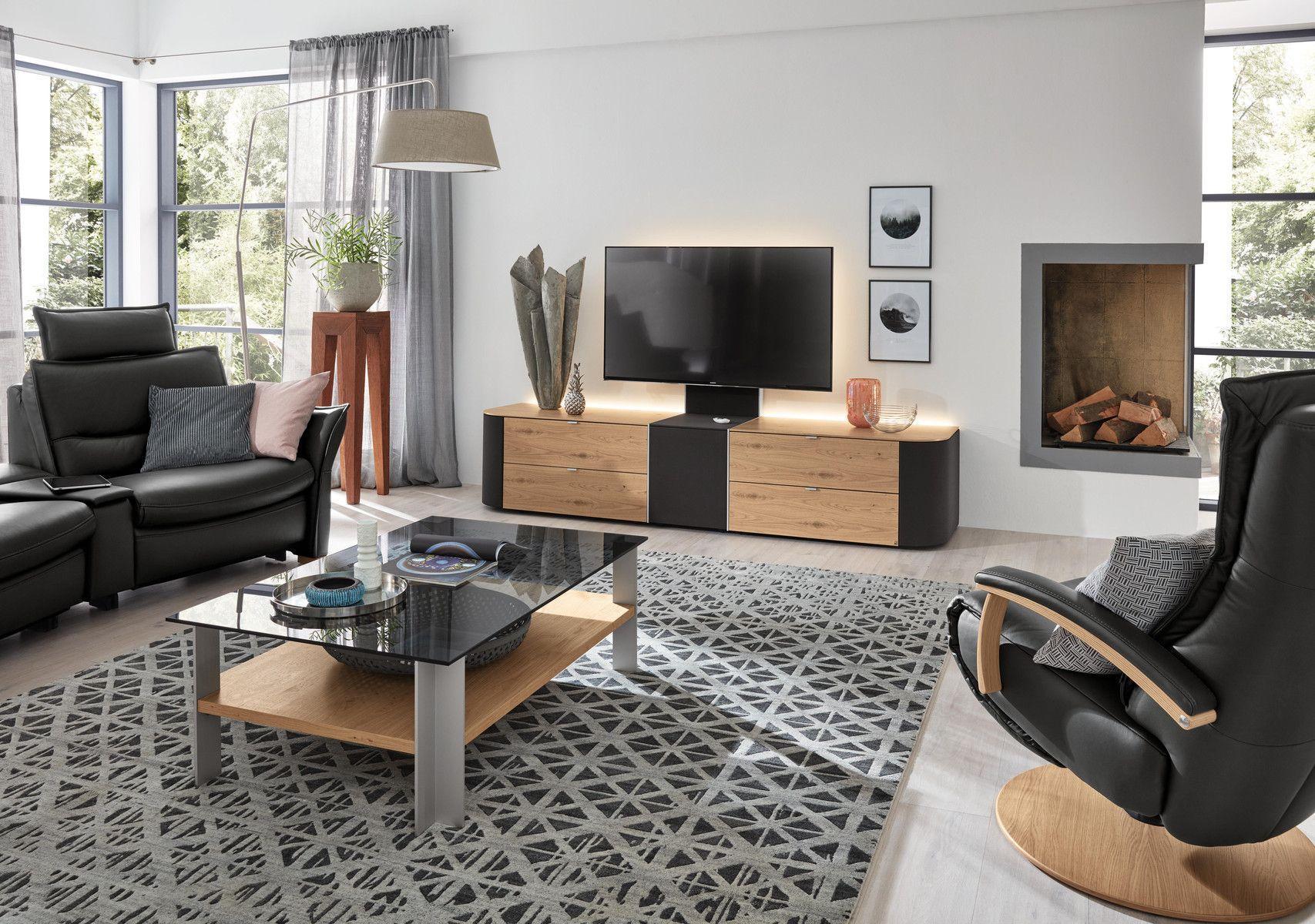 Moderne Wohnwand Holz Glas Hi Fi Q Media Musterring Videos