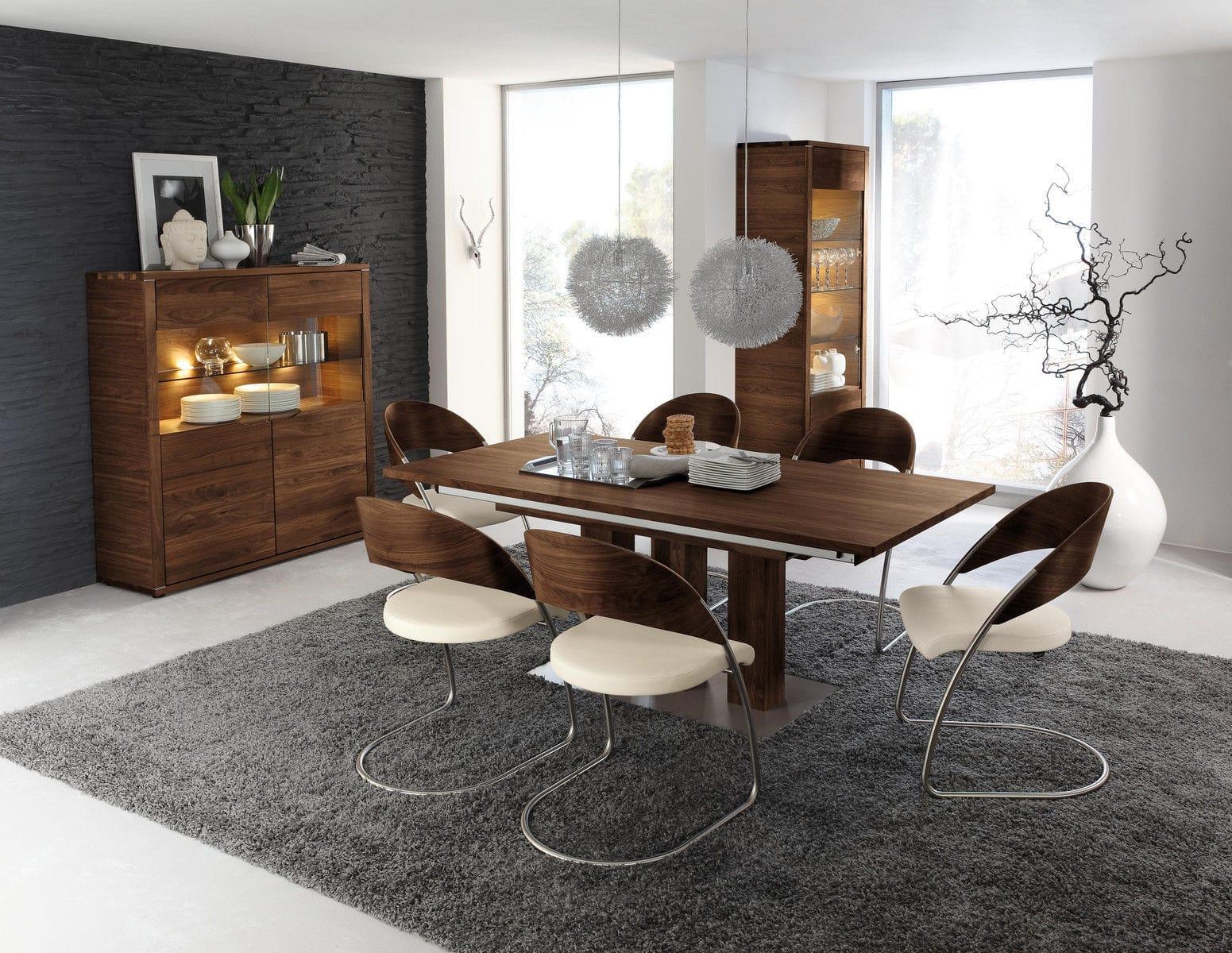Moderner Esszimmerstuhl Polster Mit überhang Stoff Lorenzo