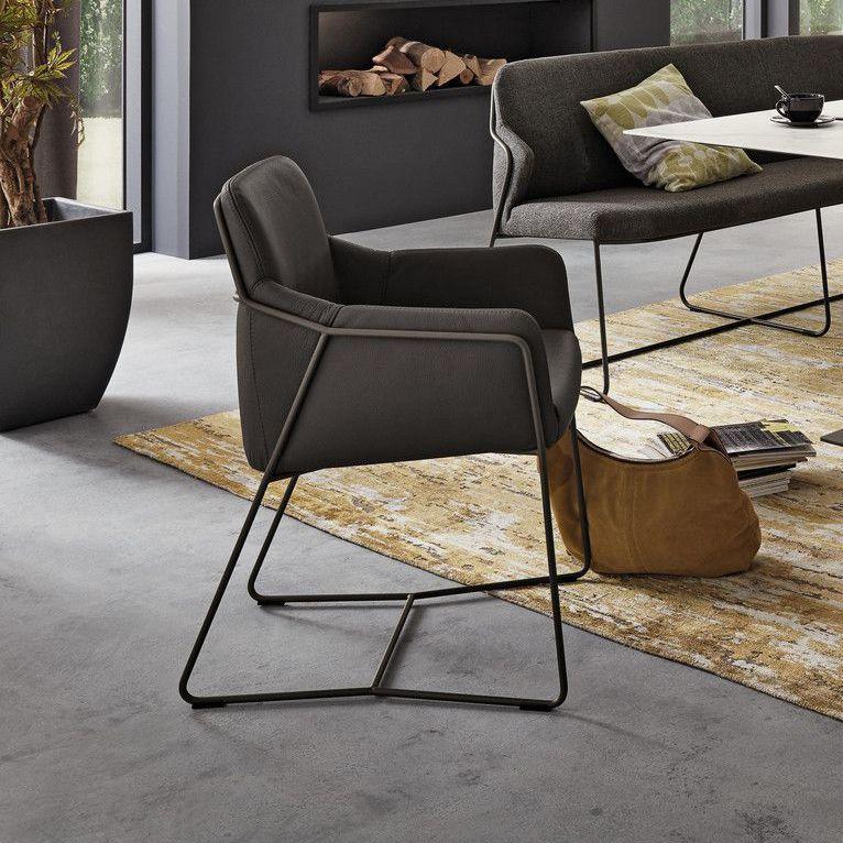 Moderner Sessel Leder Esszimmer Nizzza Musterring